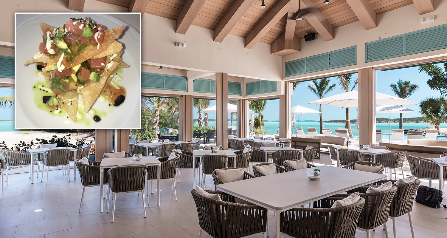 February Point dining at The Rusty Anchor in the Bahamas